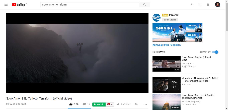 Video Musik Yang Mengisahkan Penambang Belerang Kawah Ijen Banyuwangi